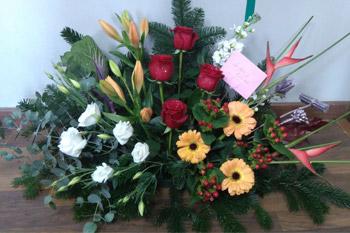 Centro de flores para enamorar