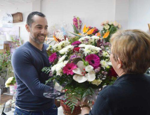 Por las flores de floristería